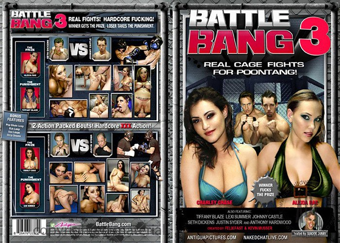 BATTLE BANG 3 (DVD XXX) ANTIGUA REAL CAGE FIGHTS FOR POONTANG CHARLEY CHASE