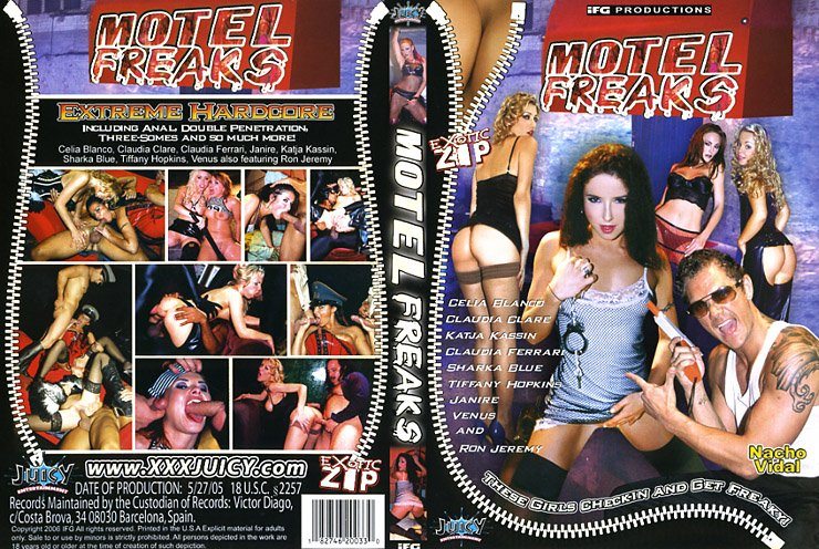 Motel Freaks (DVD) Juicy EXOTIC ZIP KATJA KASSIN SHARKA BLUE CELIA BLANCO NEW