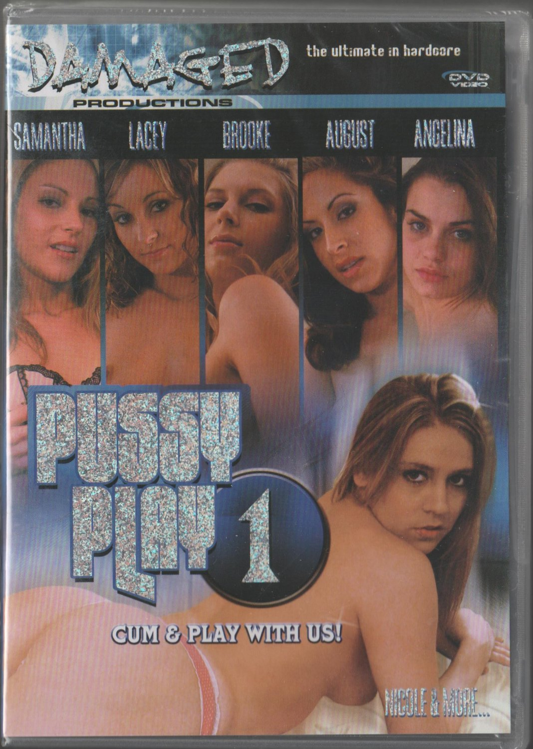 PUSSY PLAY 1 NEW DVD DAMAGED NICOLE BRAZZLE AVA RAMON DELILAH STRONG AUGUST