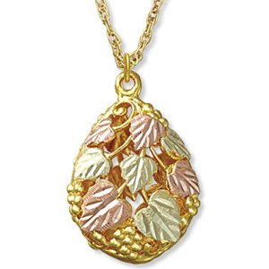 Black Hills Gold Teardrop Double-Sided Necklace