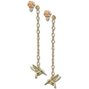 Black Hills Gold Hummingbird 2 In 1 Earrings