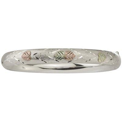 Black Hills Gold Bangle Bracelet On Sterling Silver