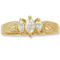 Black Hills Gold 3 Diamond Anniversary - Engagemeny .35 Ring