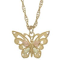 Black Hills Gold Necklace Butterfly