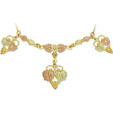 Black Hills Gold Daisy Festoon Chain Necklace