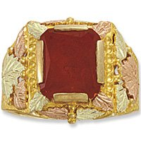 Black Hills Gold Custom Birthstone Mens Ring All Months Available
