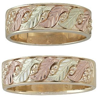 Black Hills Gold Ring His & Hers Matching Wedding Bands