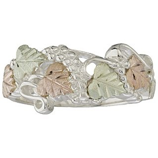 Black Hills Gold Ring Ladies On Silver Elegant