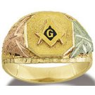 Black Hills Gold Masonic Men's Ring