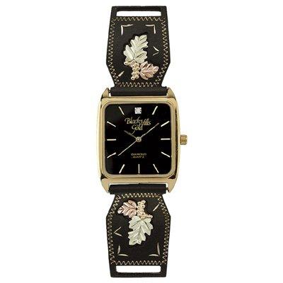 Black Hills Gold Watch Mens Diamond Quartz