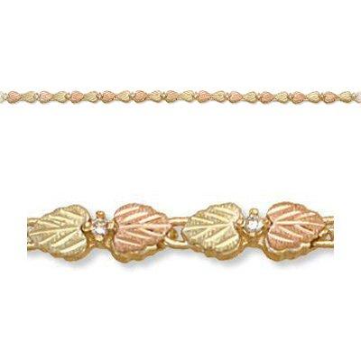 Black Hills Gold Diamond Tennis Bracelet .28 TDW