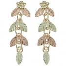 Black Hills Gold Earrings 7 Leaves Dangle Post