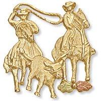 Black Hills Gold Steer Roping Team Tie Tack