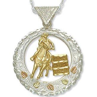 Black Hills Gold On Silver 10K Barrel Racer Necklace