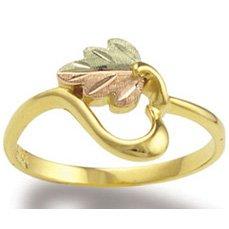 Black Hills Gold 10K Gold Heart Of Vines Ladies Ring