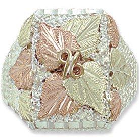 Black Hills Gold On Sterling Silver Huge Mens Ring