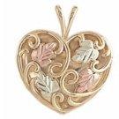 Black Hills Gold Necklace Filigree Heart