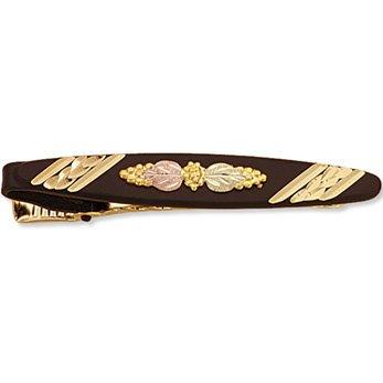 Black Hills Gold Black Dressy Tie Bar