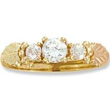 Black Hills Gold 3 Diamond .39 Anniversary Engagement Ring