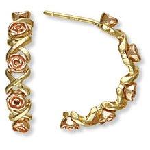 Black Hills Gold Roses & Kisses Post Earrings