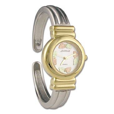 Black Hills Gold 8 Leaf Cuff Ladies Wrist Watch