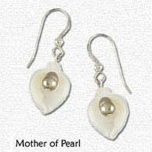 Earrings Mother Of Pearl Shell Shaped