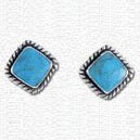 Earrings Turquoise & Sterling Silver Post