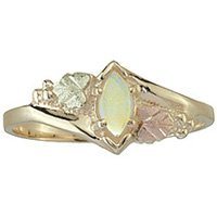 Black Hills Gold Ring Ladies Opal Cabochon