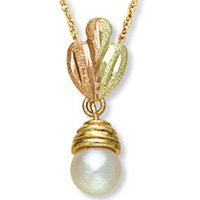 Black Hills Gold White Pearl Necklace Simple Beauty