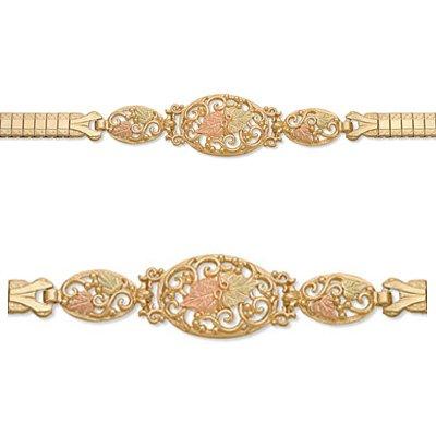 Black Hills Gold Bracelet With Expansion Band -Elegant!