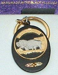 Black Hills Gold North Dakota State Quarter Key Ring
