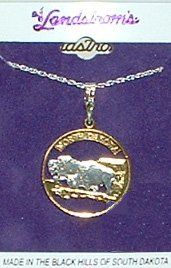 Black Hills Gold North Dakota State Quarter Necklace