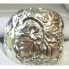 Black Hills Gold Ring Mens On Sterling Silver