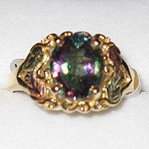 Black Hills Gold Mystic Fire Topaz 10 X 8 mm Ladies Ring