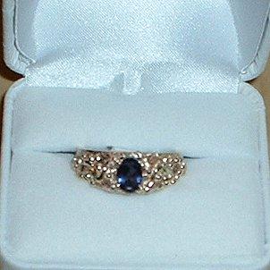 Black Hills Gold Ring Ladies Genuine Iolite Exquisite