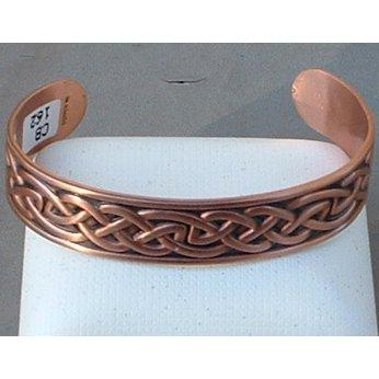 Copper Cuff Bracelet Medium Celtic Design Adjustable Made In South Dakota
