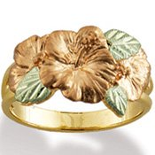 Black Hills Gold Hibiscus 10 & 12K Ladies Ring