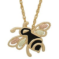 Black Hills Gold Necklace Bee Antiqued