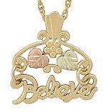 Black Hills Gold Pendant NecklaceLeaves BELIEVE