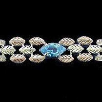 Black Hills Gold Bracelet Swiss Blue CZ Silver Cuff And Chain