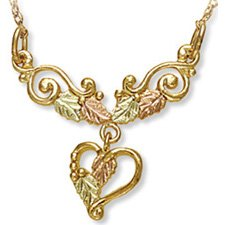 Black Hills Gold Heart Festoon Chain Necklace