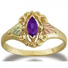 Black Hills Gold Genuine Marquise Amethyst Ring