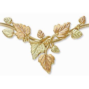 Black Hills Gold 10 Leaves Slider Necklace
