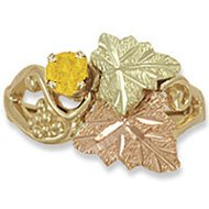 Black Hills Gold Genuine Citrine Ladies Ring