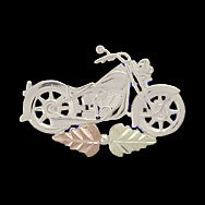 Black Hills Gold Tie tack Hat Pin Silver Motorcycle