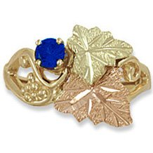 Black Hills Gold Genuine Sapphire Ladies Ring