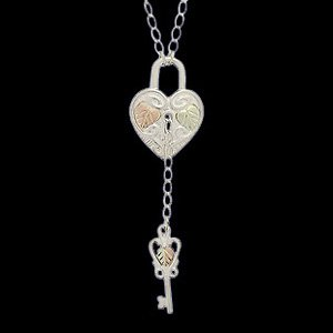 Black Hills Gold Necklace Sterling Silver Key To My Heart