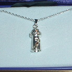 Black Hills Gold On Steling Silver Lighthouse Necklace