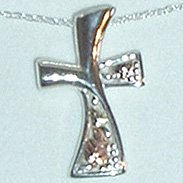 Black Hills Gold Necklace Contemporary Sterling Silver Cross