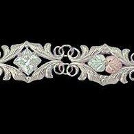"Black Hills Gold Bracelet Clear CZ Sterling Silver 7"" Long"